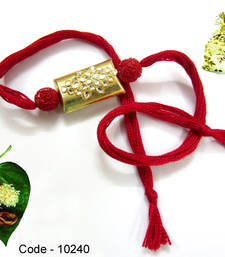 Buy Jewel Kundan work Rakhi rakhi-gift-hamper online