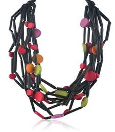 Buy New Modern Black Wooden Necklace Necklace online