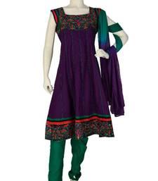 Buy Just Women - Royal Purple Salwar Set dress online