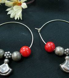 Buy Silver_Beads_Red_Beads_Bali Earring online