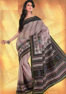 Elegant mal mal cotton saree with blouse piece d.no PW111