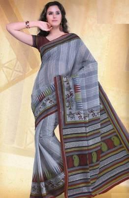 Elegant mal mal cotton saree with blouse piece d.no PW112