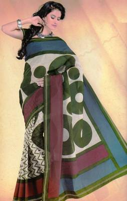 Elegant mal mal cotton saree with blouse piece d.no pw128