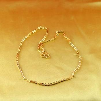 gold micro platted chain size-20""