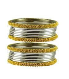 Buy Silver  color Brass bangle bangles-and-bracelet online