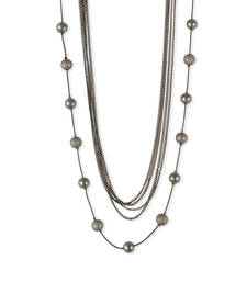Buy Layered Chain Nrcklace Black Color Necklace for Women Necklace online