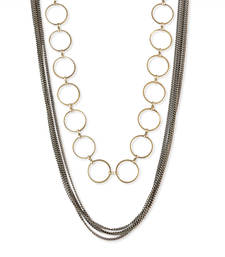 Buy Rings Chain Necklace Black Color Necklace for Women Necklace online