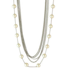 Buy Pearl Beaded Necklace White Color Necklace for Women Necklace online