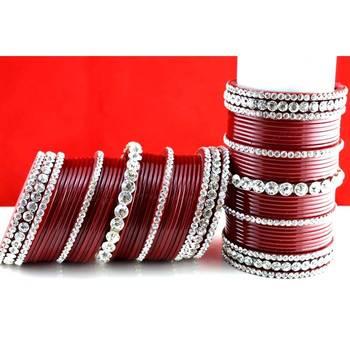 acrylic plastic panjubi suhag chura bangle stone moti with personaliz size-2.2,2.4,2.6,2.8,2.10