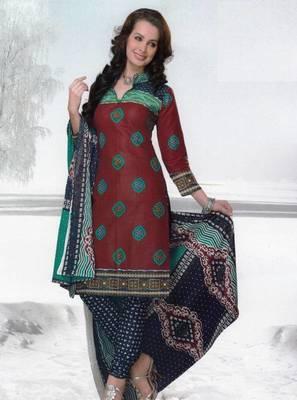 Dress material cotton designer prints unstitched salwar kameez suit d.no var7017