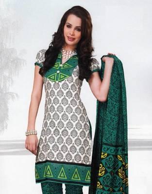 Dress material cotton designer prints unstitched salwar kameez suit d.no var7023
