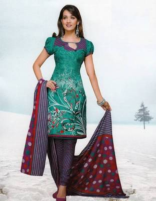Dress material cotton designer prints unstitched salwar kameez suit d.no var7033