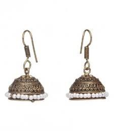 Buy Silver Pearl Studded Jhumki jhumka online