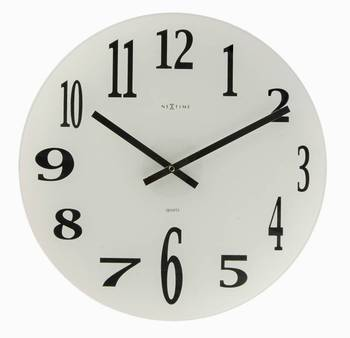 2472-MIRROR GLASS Simple Classy Clock