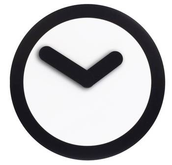 2615zw-FOCUS Funky Black Pendulam Clock for Any Room