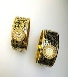 Buy black golden thewa work bangle bangles-and-bracelet online
