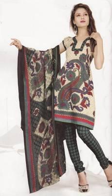Crepe dress material elegant designer unstitched salwar suit d.no 4315