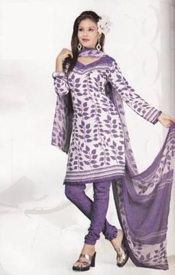 Crepe dress material elegant designer unstitched salwar suit d.no 4319