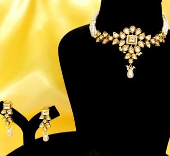 Royal Kundan Meenakari Uncut Necklace