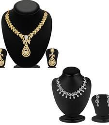 Buy Splendid 2 Pieces Necklace Set Combo jewellery-combo online