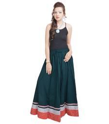 Buy Sunshsine Rajasthan Dark Green Long Skirt navratri-skirt online