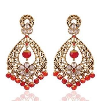 Resplendent Gold Plated Jewellery Earrings For Women