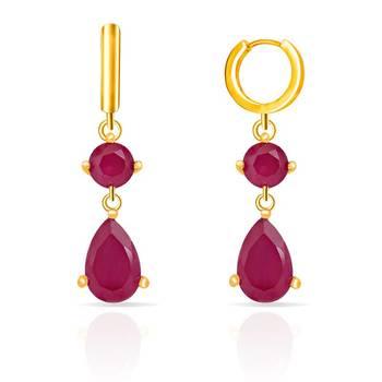 Mahi Gold Plated Ruby Drops