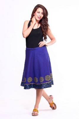 Ethnic A-line Skirt