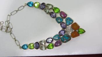 Multistone necklace