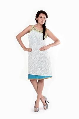 Ethnic Fusion Asymmetrical Strappy Dress