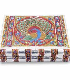 Buy Metal Colorful Meenakari Work Jewellery Box jewellery-box online