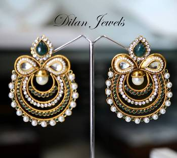 Ethnic Green Chand Balis