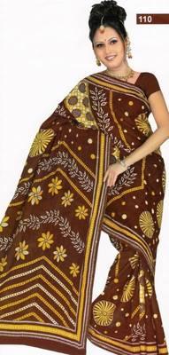 Elegant cotton saree with blouse piece d.no PS110