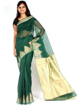 Supernet cotton fancy border saree