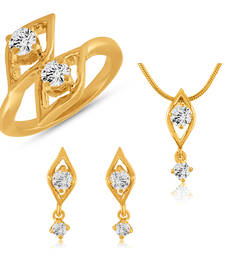 Buy Fashion Combo Made with Swarovski Zirconia Solitaire Solitaire for Women jewellery-combo online