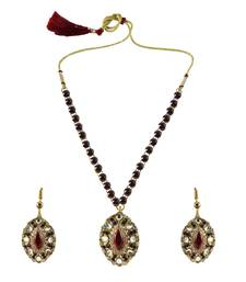 Buy Gold Platted Brass Necklace necklace-set online
