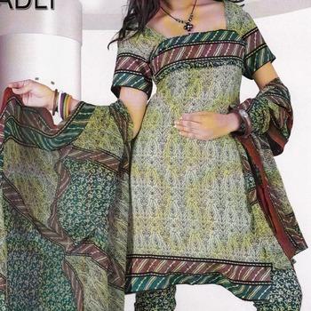 Dress Material Crepe Designer Prints Unstitched Salwar Kameez Suit D.No A4241