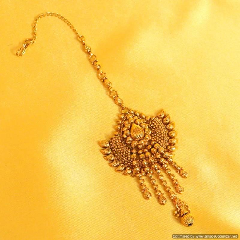 Buy Antique Gold Maang Tikka Online