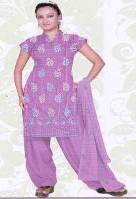 Just Women - Cotton Embroidered Dress Material
