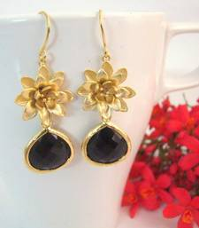 Buy Black Lotus Earrings gemstone-earring online