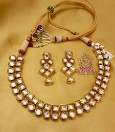 Buy Kundan Meena Elegant Necklace black-friday-deal-sale online