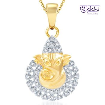 Sukkhi Ritzzy Gold and Rhodium Plated CZ God pendants