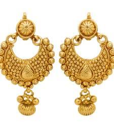 Buy Traditional Ethnic Gold Plated Ethnic Golden Diya Earrings For Women danglers-drop online