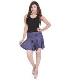 Buy Cotton Lycra Free Size Mini Skirt with Divider cotton-skirt online