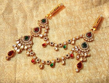 Designer kundan Juda Keychain waist belt kamarband wedding jewelry