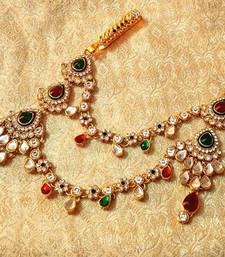 Buy Designer kundan Juda Keychain waist belt kamarband wedding jewelry key-chain online