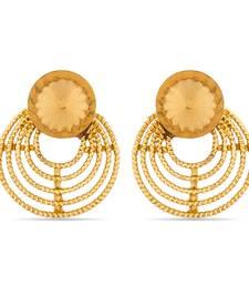 Buy Luxor Designer Orange Gold Plated Earrings diwali-jewellery online