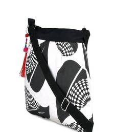 Buy Black and white sling sling-bag online