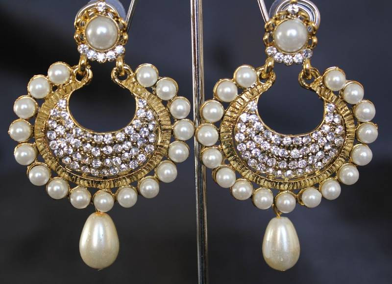 moti at work piece proddetail earrings hanging color golden beautiful rs