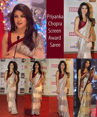 Priyanka Chopra Screen Award Saree Replica